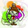 Kleine Katze mit Mütze